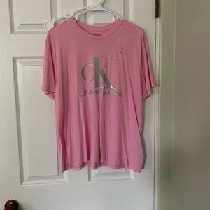 Calvin Klein Pink Glittery T Shirt